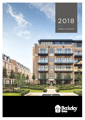 Berkeley Group Holdings annual report 2018