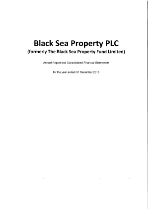 Black Sea Property Fund(The) annual report 2016