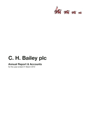 Bailey(C.H.) annual report 2012