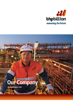 BHP Billiton Plc annual report 2011