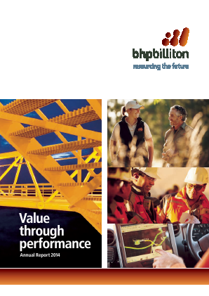 BHP Billiton Plc annual report 2014