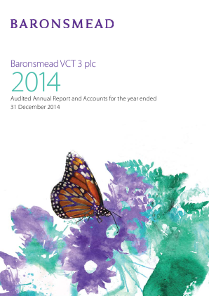 Baronsmead Second Venture Trust (Previously VCT 3) annual report 2014
