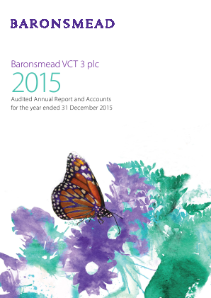 Baronsmead Second Venture Trust (Previously VCT 3) annual report 2015
