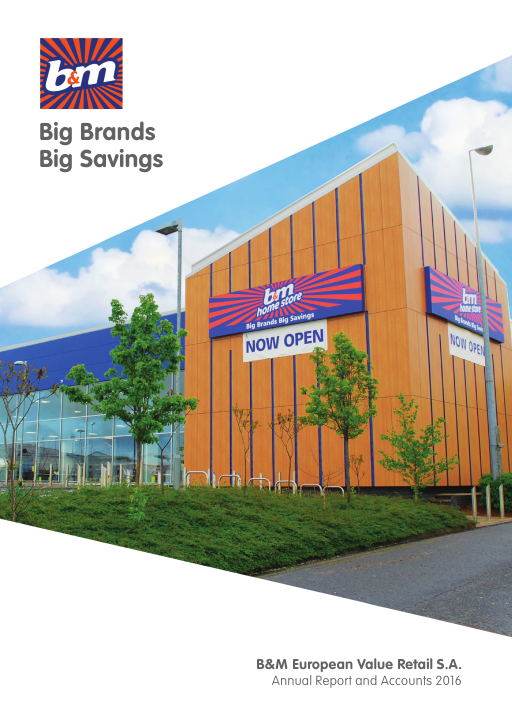 B & M European Value Retail SA annual report 2016