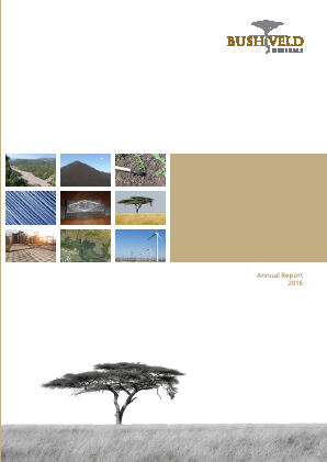 Bushveld Minerals Ltd annual report 2016