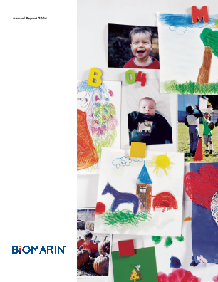 BioMarin Pharmaceutical Inc. annual report 2004