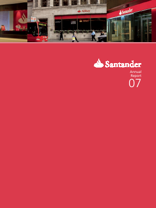 Banco Santander annual report 2007