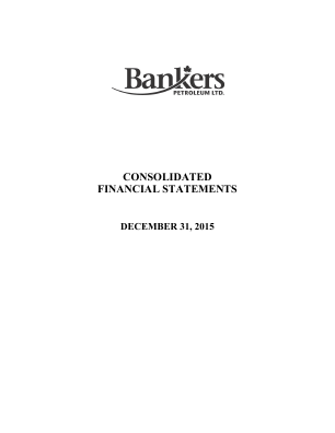 Bankers Petroleum annual report 2015