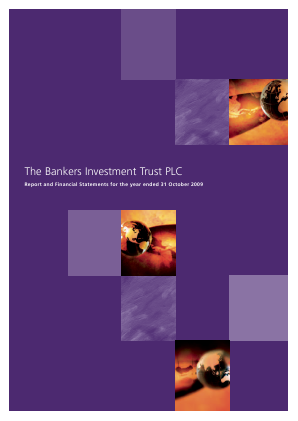 Bankers Investment Trust annual report 2009