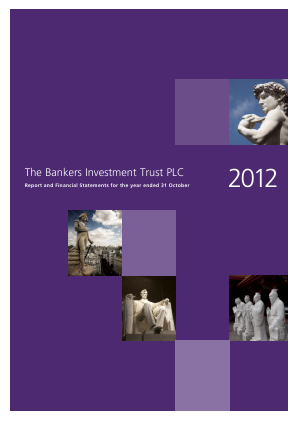 Bankers Investment Trust annual report 2012