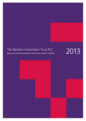 Bankers Investment Trust annual report 2013