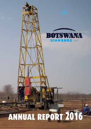 Botswana Diamonds Plc annual report 2016