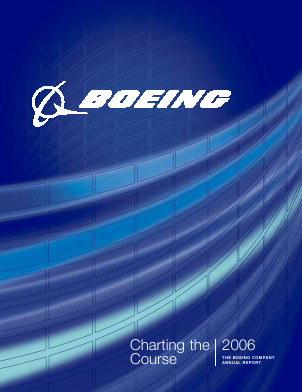 The Boeing Company annual report 2006