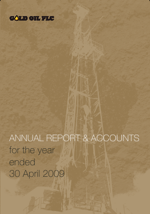 Baron Oil Plc annual report 2009