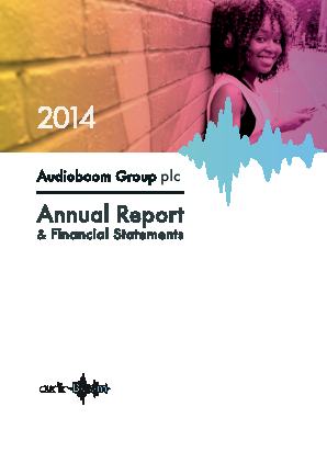 Audioboom Group Plc annual report 2014