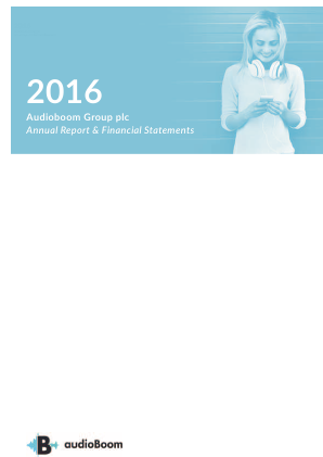 Audioboom Group Plc annual report 2016