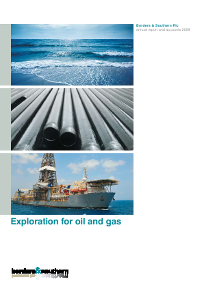 Borders & Southern Petroleum annual report 2009