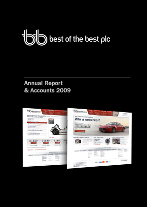 Best Of The Best Plc annual report 2009
