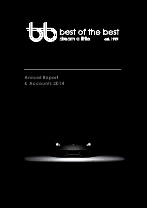 Best Of The Best Plc annual report 2014