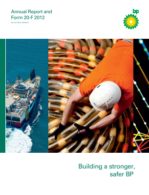 BP annual report 2012