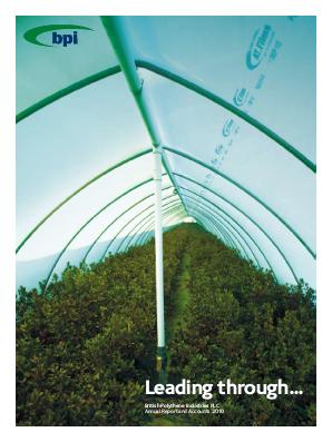 British Polythene Industries annual report 2010