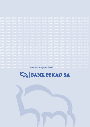 Bank Pekao SA annual report 2006