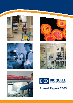 Bioquell annual report 2003