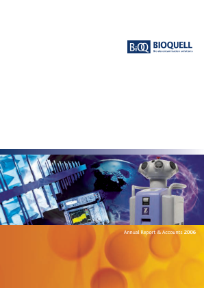 Bioquell annual report 2006