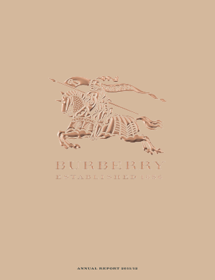 Burberry Group annual report 2012
