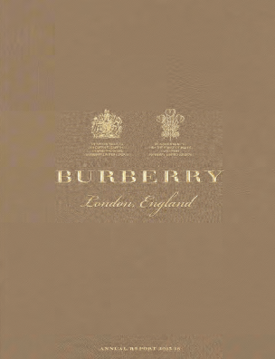 Burberry Group annual report 2016