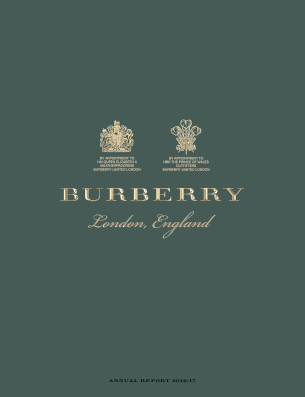 Burberry Group annual report 2017