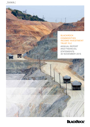 Blackrock Commodities Inc Investment Trust annual report 2015