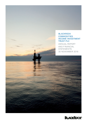 Blackrock Commodities Inc Investment Trust annual report 2016