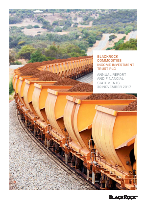 Blackrock Commodities Inc Investment Trust annual report 2017