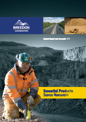 Breedon Group (previously Breedon Aggregates) annual report 2010