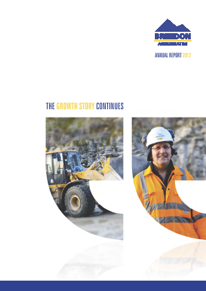 Breedon Group (previously Breedon Aggregates) annual report 2012