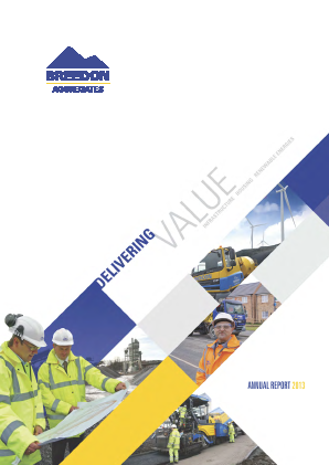 Breedon Group (previously Breedon Aggregates) annual report 2013