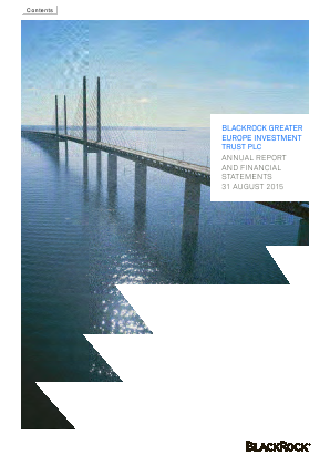 Blackrock Greater Europe Investment Trust annual report 2015