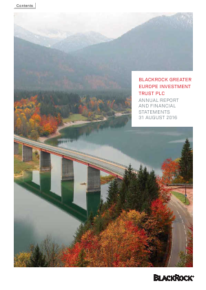 Blackrock Greater Europe Investment Trust annual report 2016