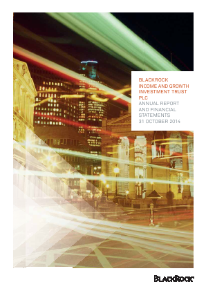 Blackrock Income & Growth Investment Trust annual report 2014