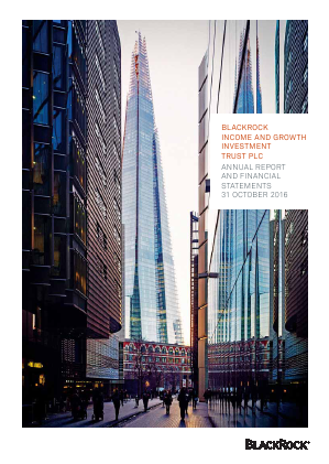 Blackrock Income & Growth Investment Trust annual report 2016