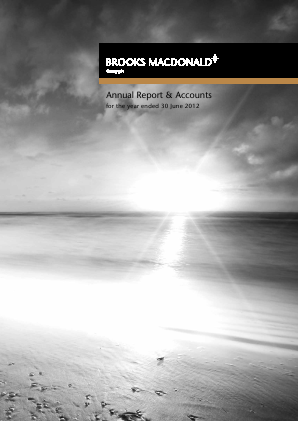 Brooks Macdonald Group annual report 2012