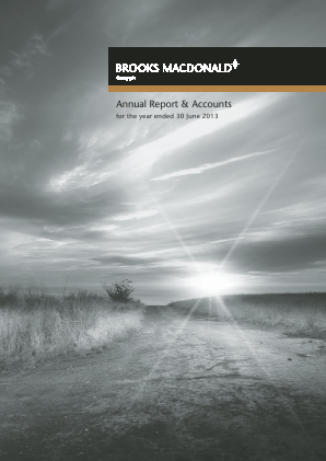 Brooks Macdonald Group annual report 2013