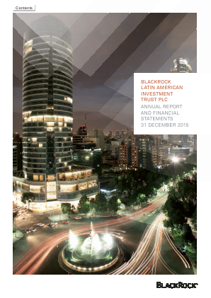 Blackrock Latin American Investment Trust annual report 2015