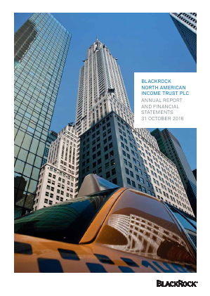Blackrock North American Income Trust Plc annual report 2016