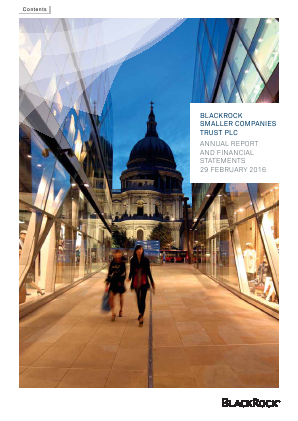 Blackrock Smaller Companies Trust Plc annual report 2016