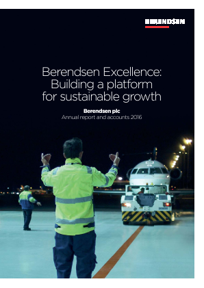 Berendsen Plc (formally Davis Service Group) annual report 2016