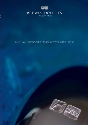 Brewin Dolphin Holdings annual report 2010