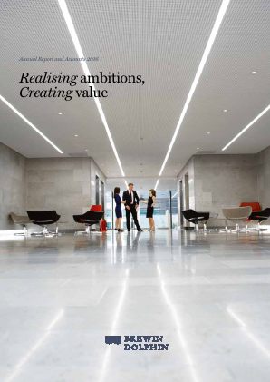 Brewin Dolphin Holdings annual report 2016