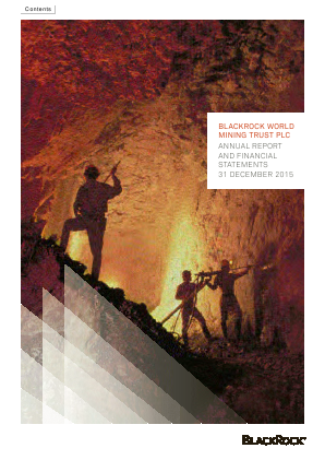 Blackrock World Mining Trust Plc annual report 2015